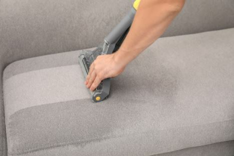 Upholstery cleaning - agitation process in Mesquite.