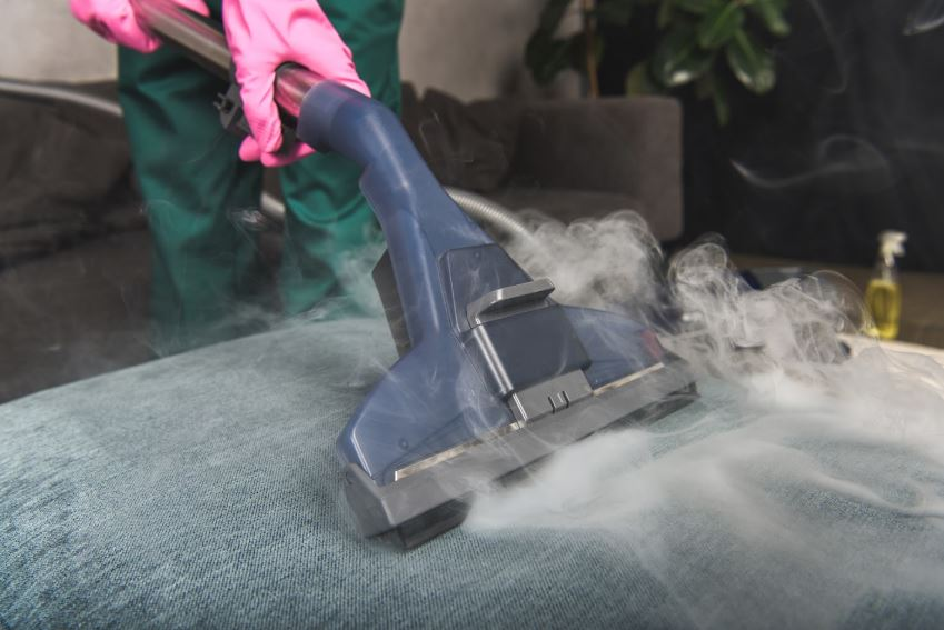 Bringing out the steam cleaner to get rid of the persisten stain and odor for one of our Mesquite customers.